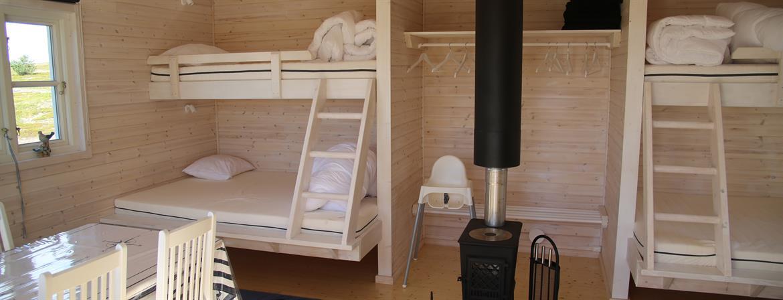 Sängväggen med kamin