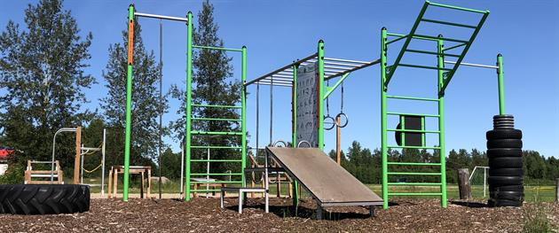 Svensbyns Multi arena outdoor gym, Sara Holm