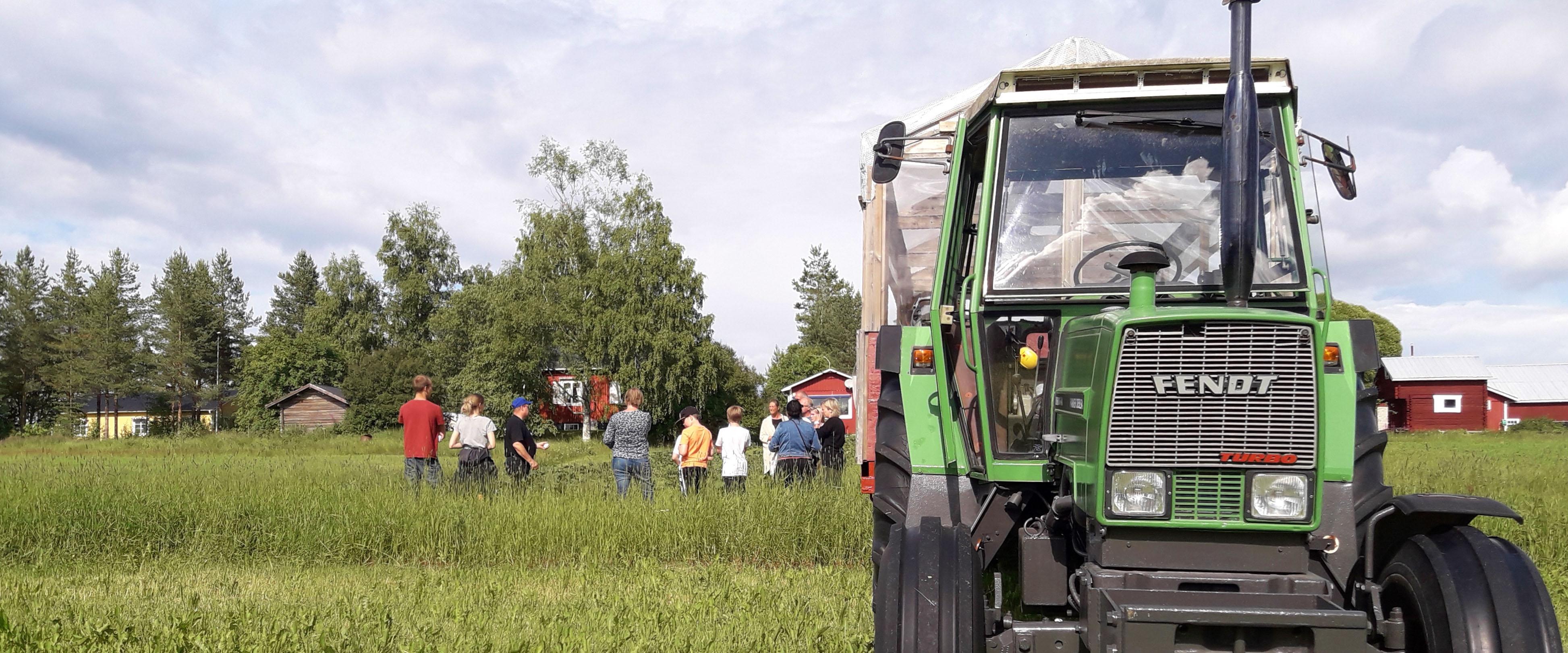 Traktor på safari