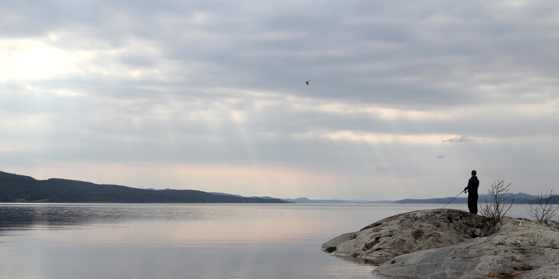 Fiske fra Tynestangen i Snåsavatnet. Copyright: Visit Innherred