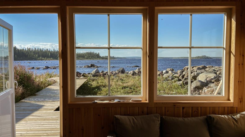 Utsikt från en stuga på Pite Rönnskär