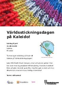 Affisch världsstickningsdagen