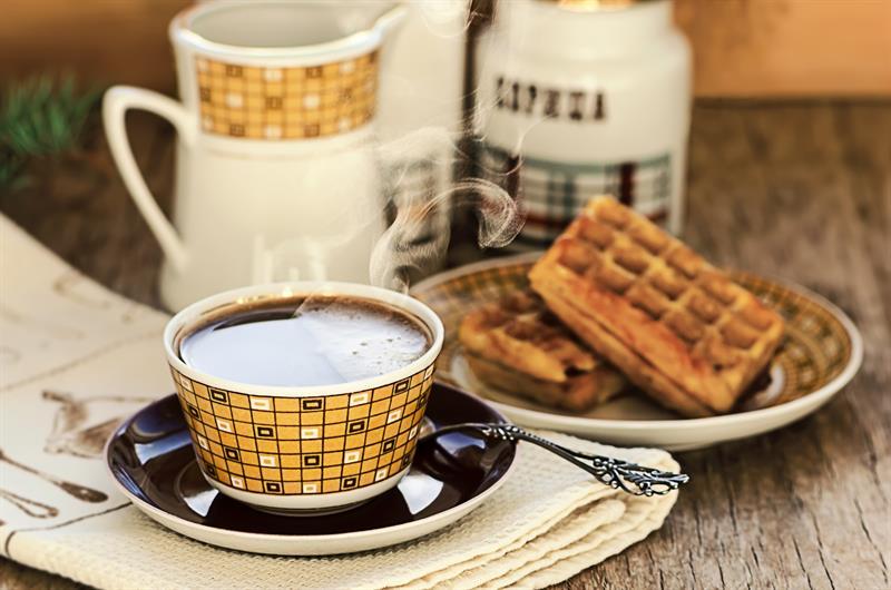 Vaflar og kaffi