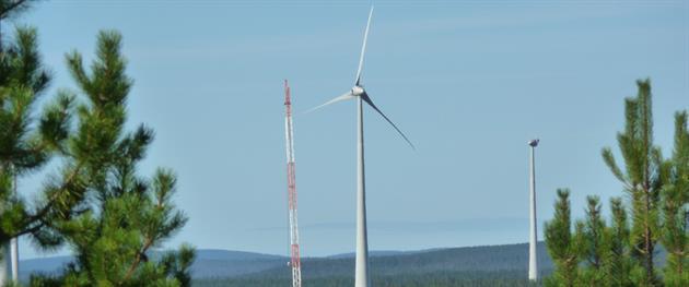 Vindkraftverk byggs upp för framtidens energibehov runt om i Markbygden, Piteå Turistcenter