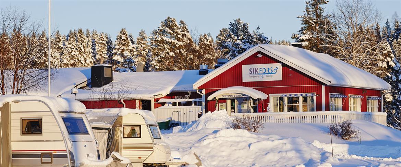 Sikfors Camping en vacker vinterdag