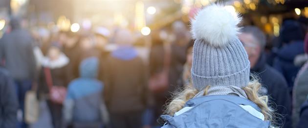 Vintershopping längs gågatan