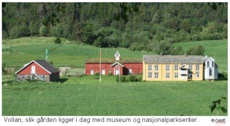 Vollan Museum og Nasjonalparksenter. Copyright: kvikne.no