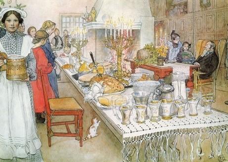 Julbord av Carl Larsson