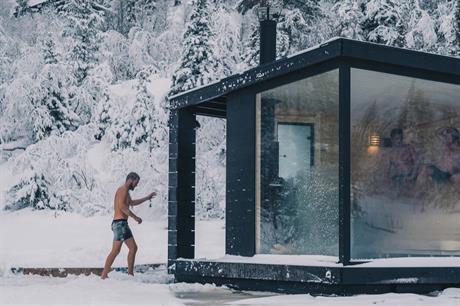 To flytende badstuer er sjøsatt på Gausta. De ligger vakkert til på Kvitåvatn med utsikt mot Gaustatoppen., © gausta.com