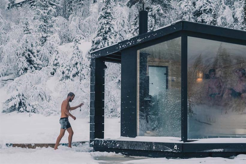 Two floating saunas are available at Gausta. They are situated with beautiful view towards Gaustatoppen. , © gausta.com