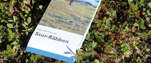Broschure about the island of Stor-Räbben, Piteå Turistcenter