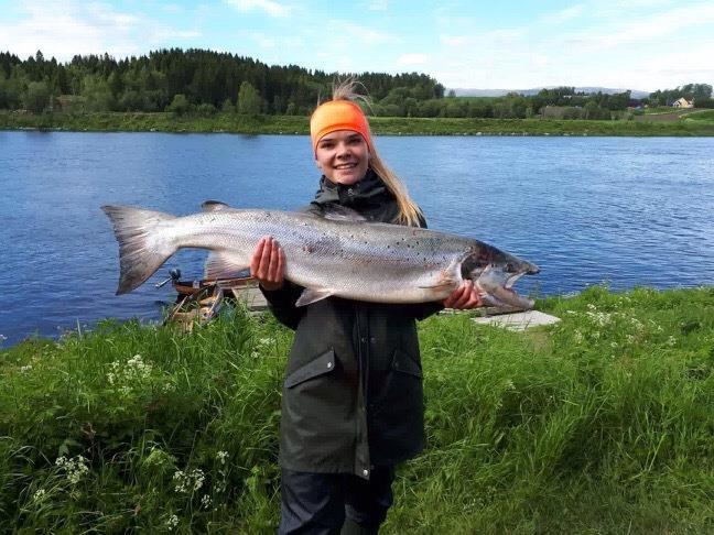 Lachsfischen in Namsen von Fru Opdal Gårdshotell