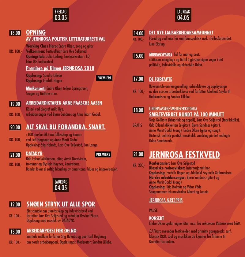 AVLYST - JERNROSA Politisk Litteraturfestival, 01.05-02.05.2020