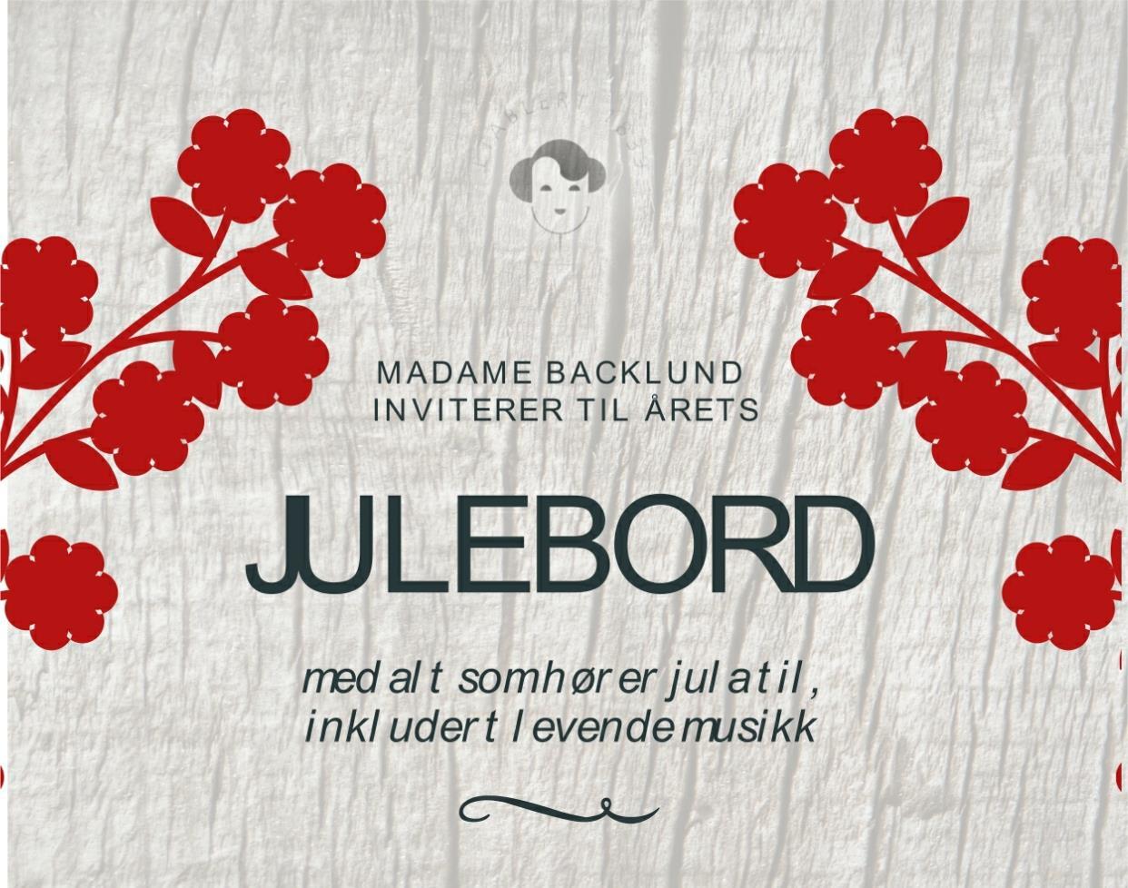 Madame Backlund inviterer til årets julebord