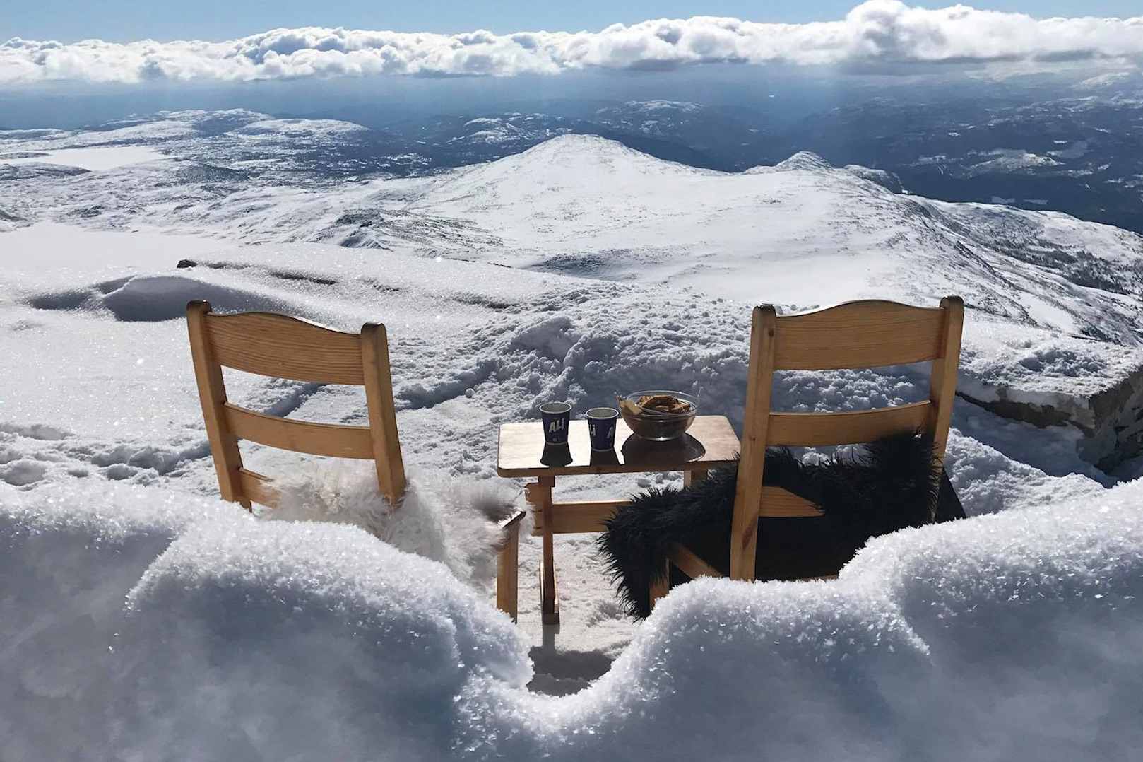 Beautiful view from Gaustatoppen Turisthytte, © Gaustatoppen Turisthytte