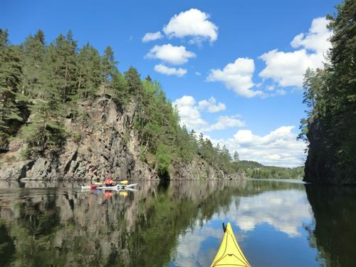 kayak journey with beautiful landscape around, © The heavy water adventures