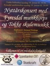 Nyttårskonsert med Tokke skulemusikk og Fyresdal Musikklag