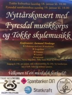 Nyttårskonsert med Tokke skulemusikk og Fyresdal Musikklag - Vest-Telemark.no