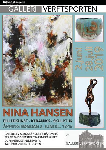 076826a2 Utstilling: Nina Hansen - maleri, keramikk og skulptur