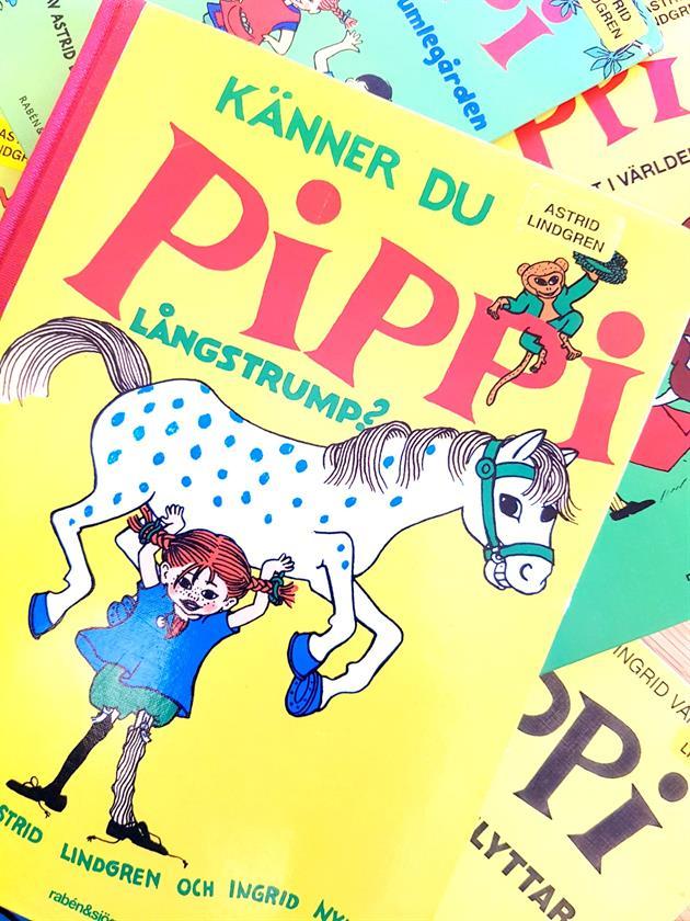 Böcker med Pippi Långstrump