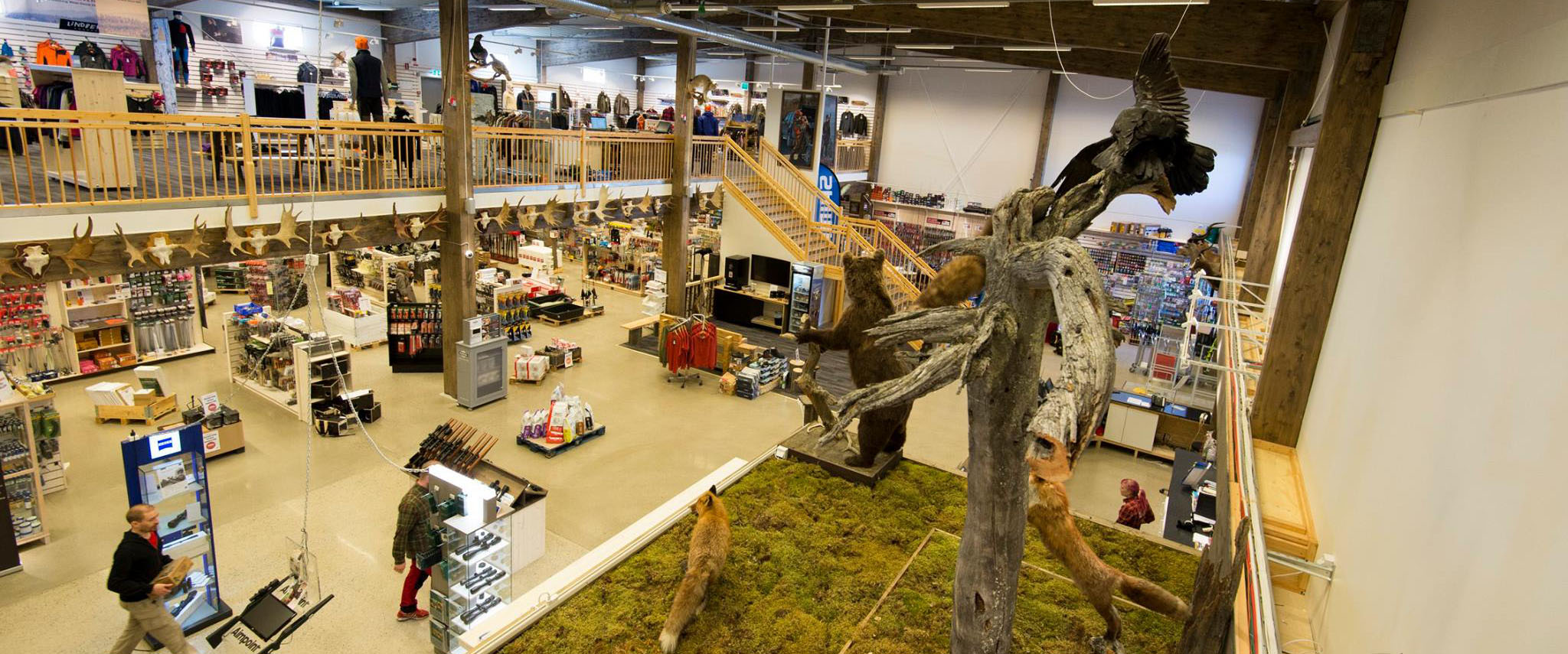 Bird's eye view of the store
