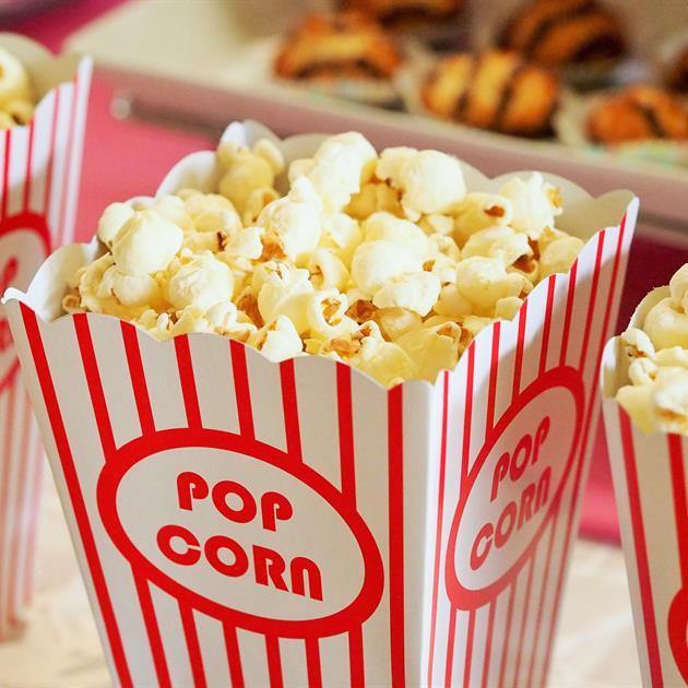 Bild på biopopcorn