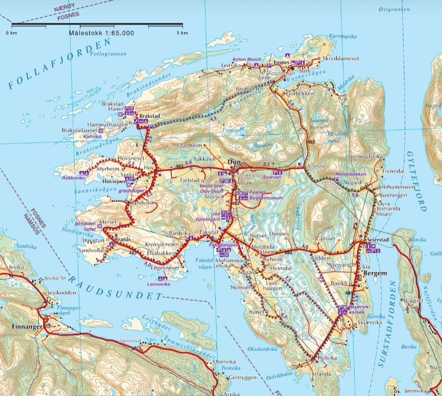 Sykkel og sykkelruter på Jøa