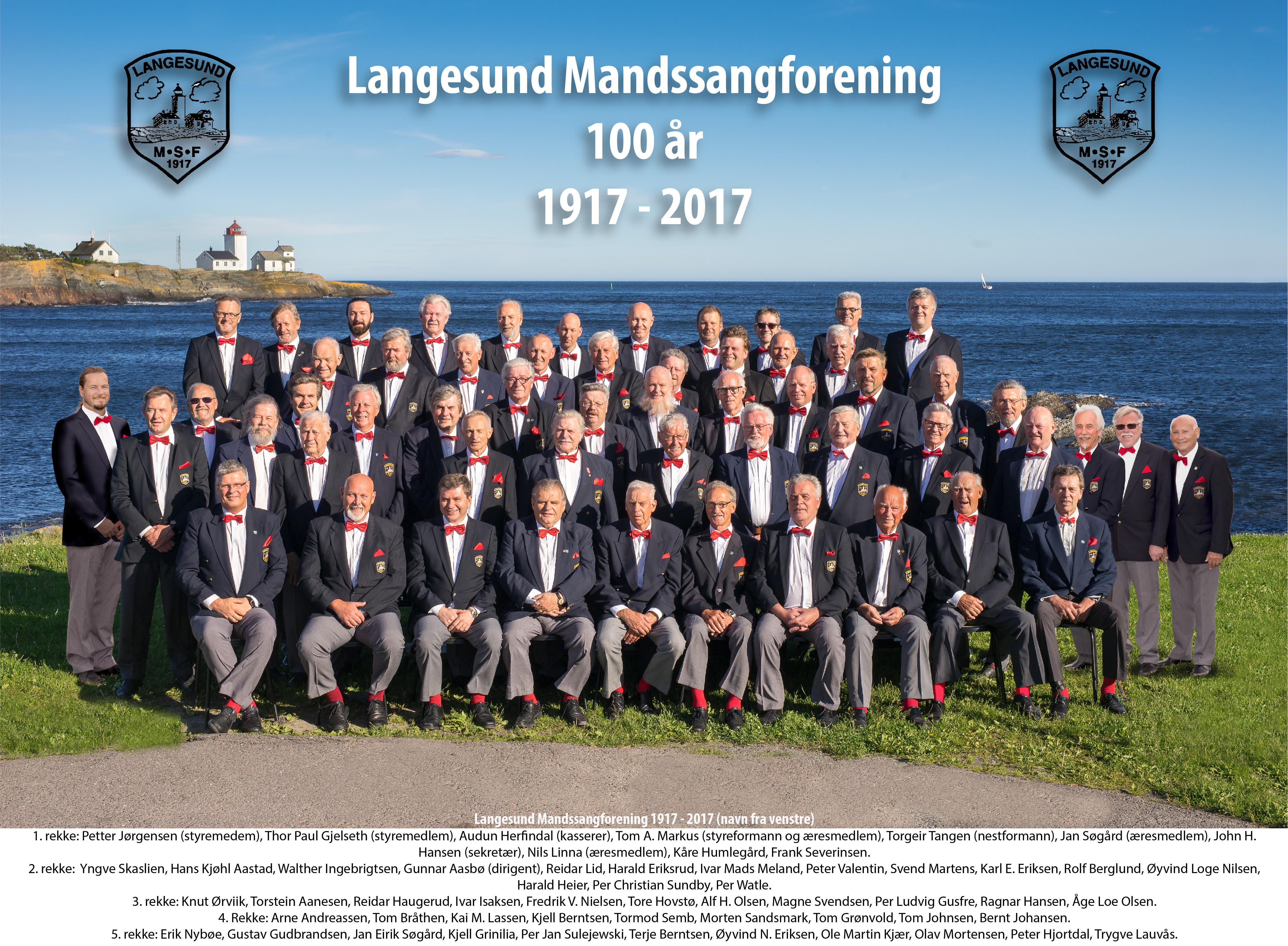 Langesund Mandssangforening 100 år, © LMSF