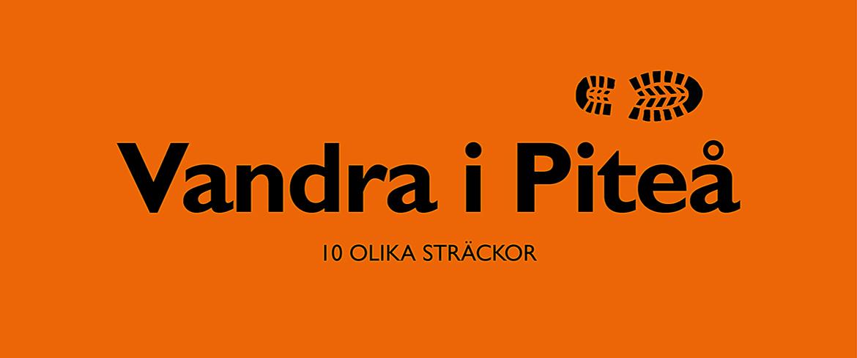 Vandra i Piteå Orange Kort