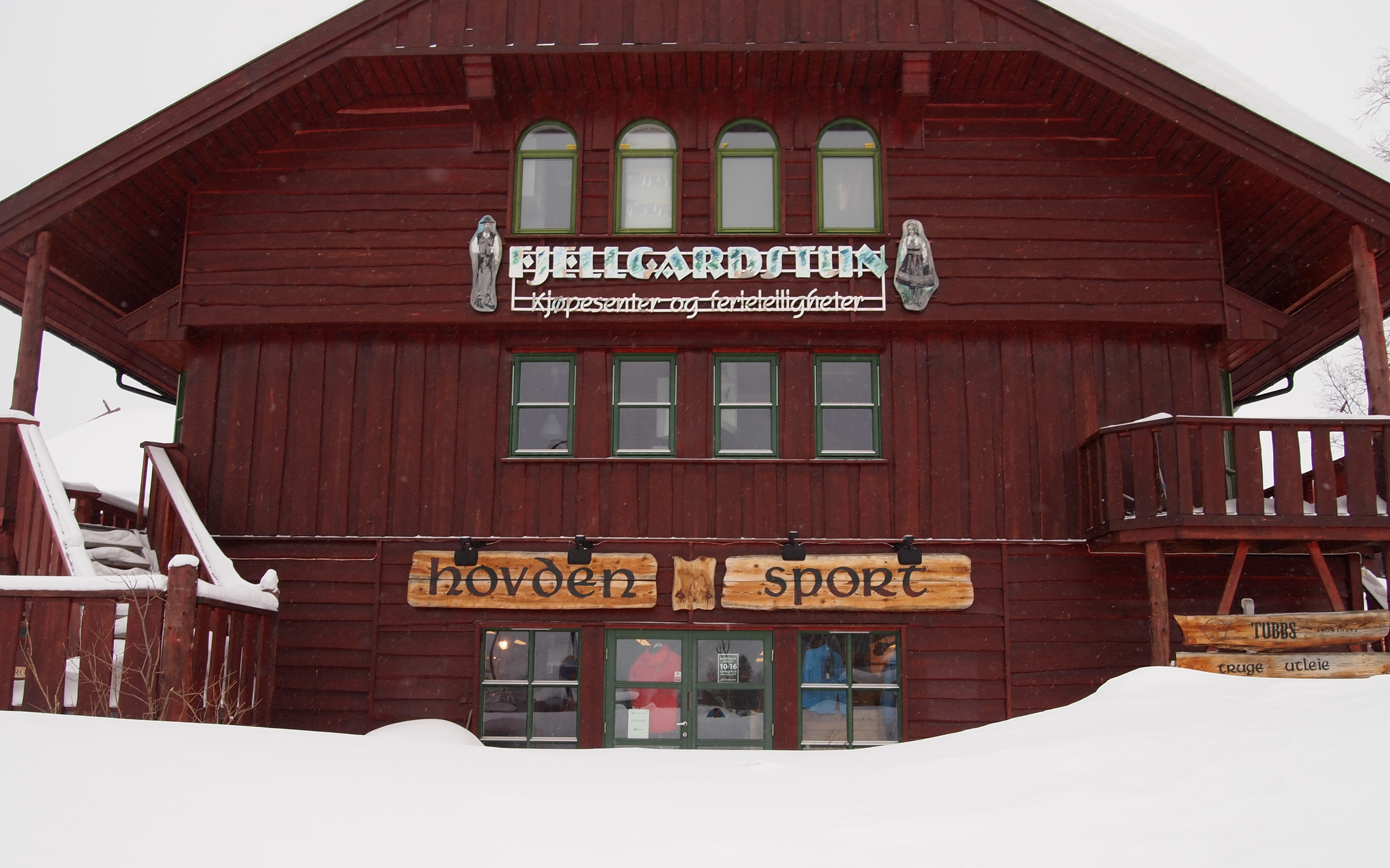 Hovden Sport i Fjellgardstun, midt i sentrum
