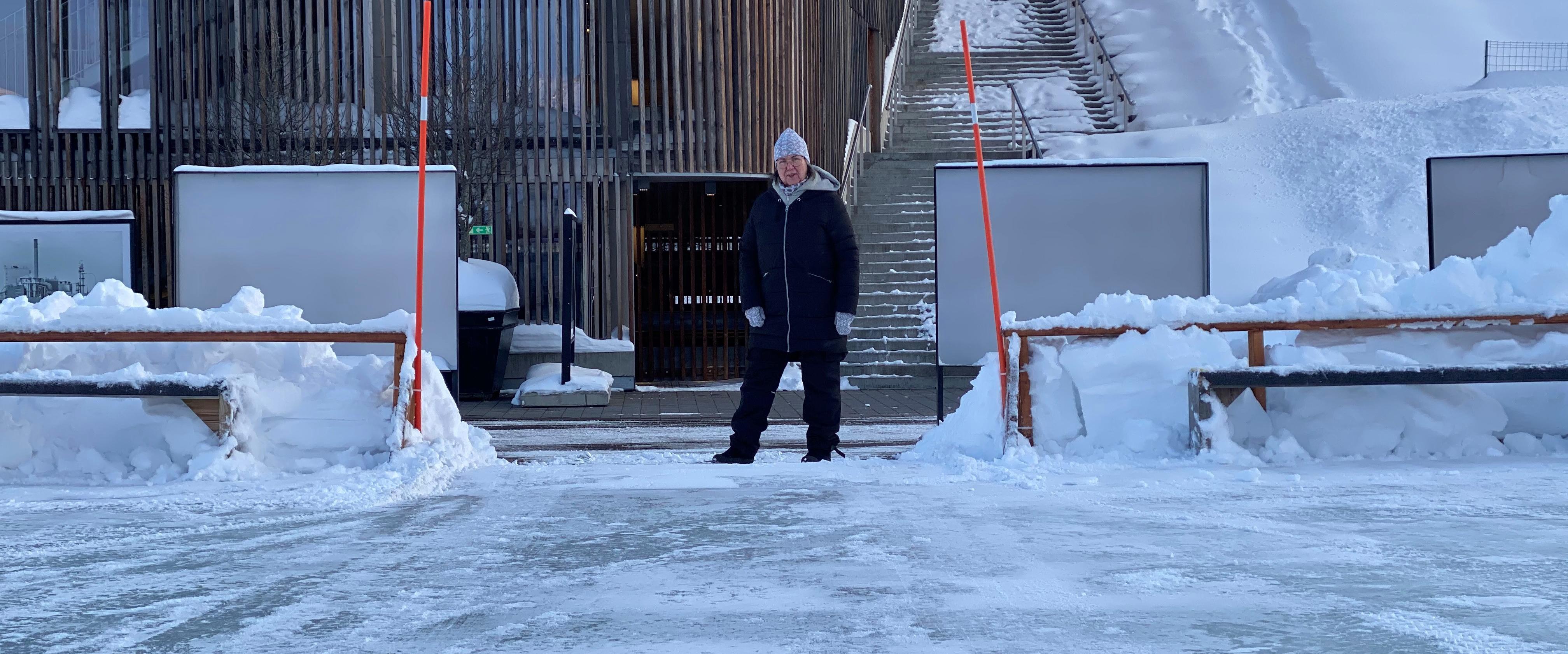 Vinterdäcket mitt i Piteå