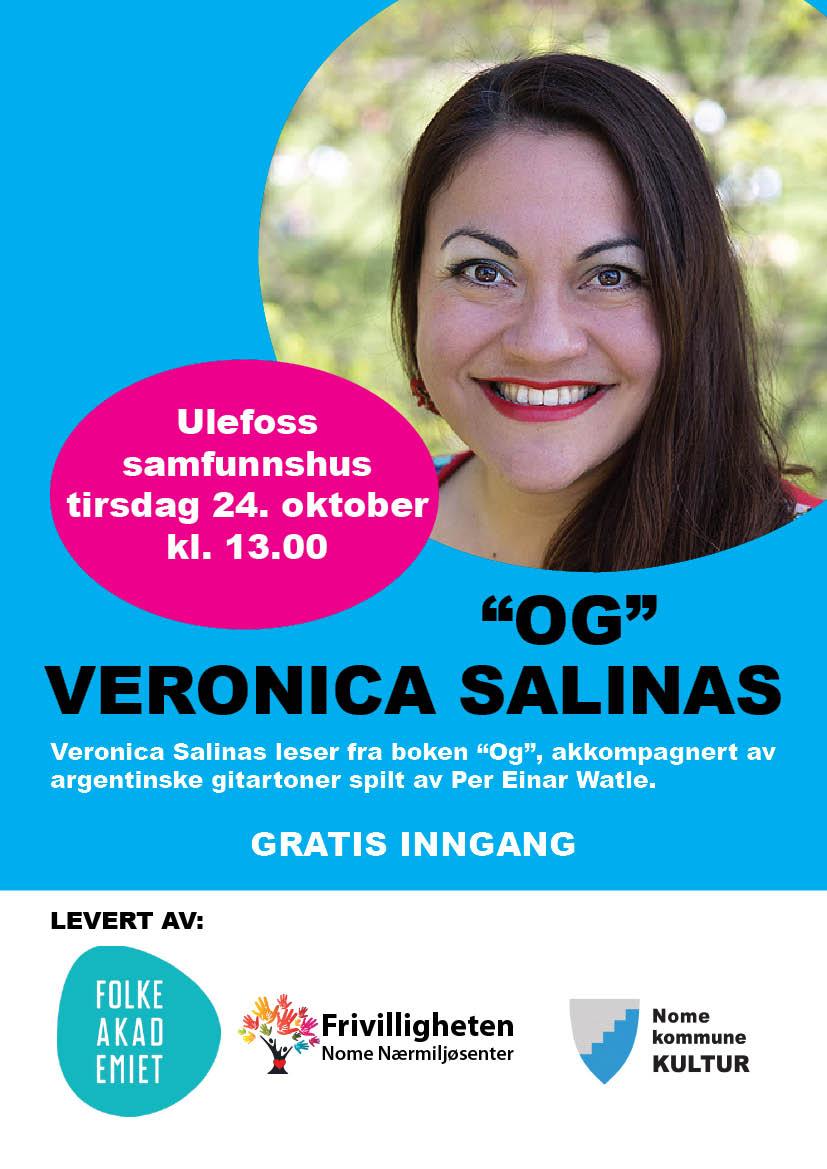 """Gratis dagkonsert """"OG"""" med Veronica Salinas"""